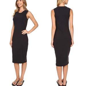 Lucy | S Daily Mantra Black stretch Midi Dress